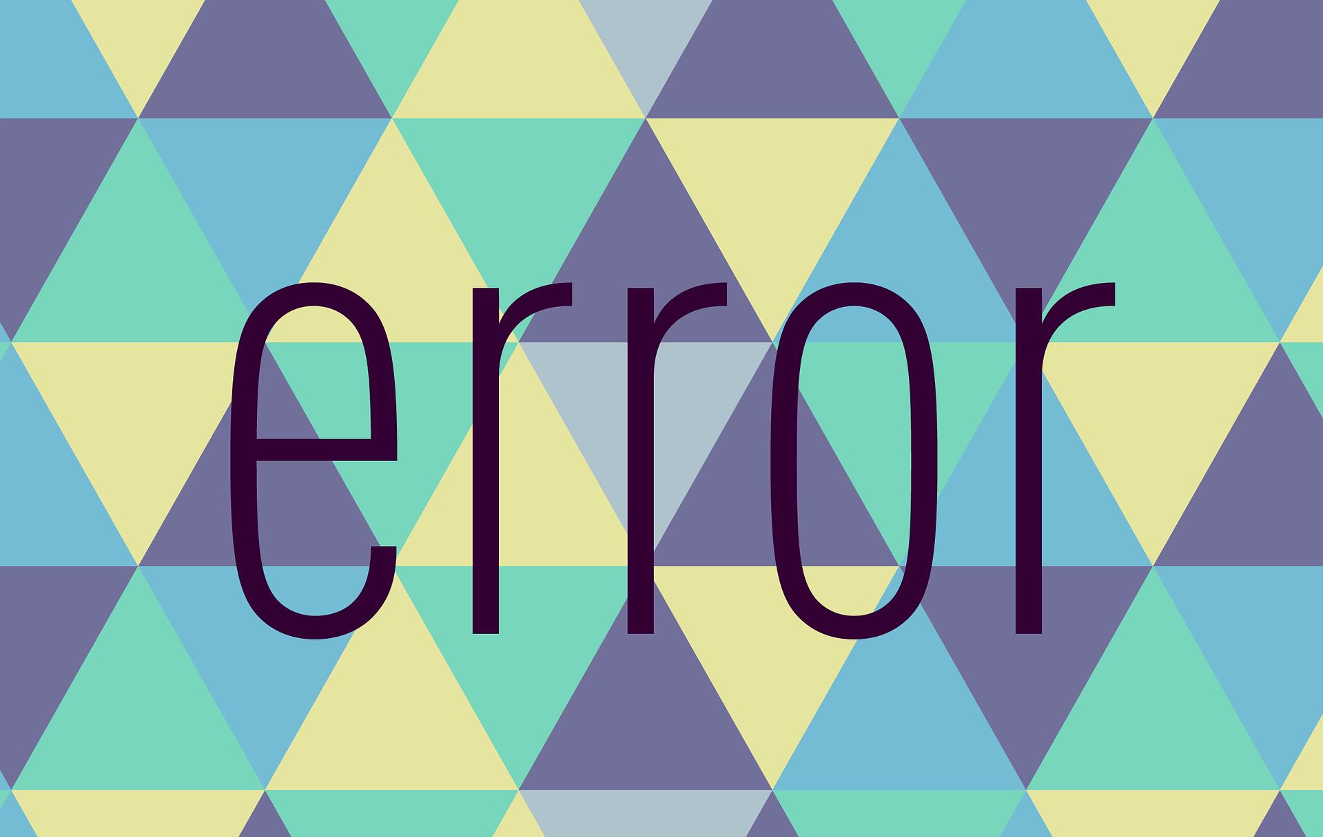 Ilustrasi Pesan Error
